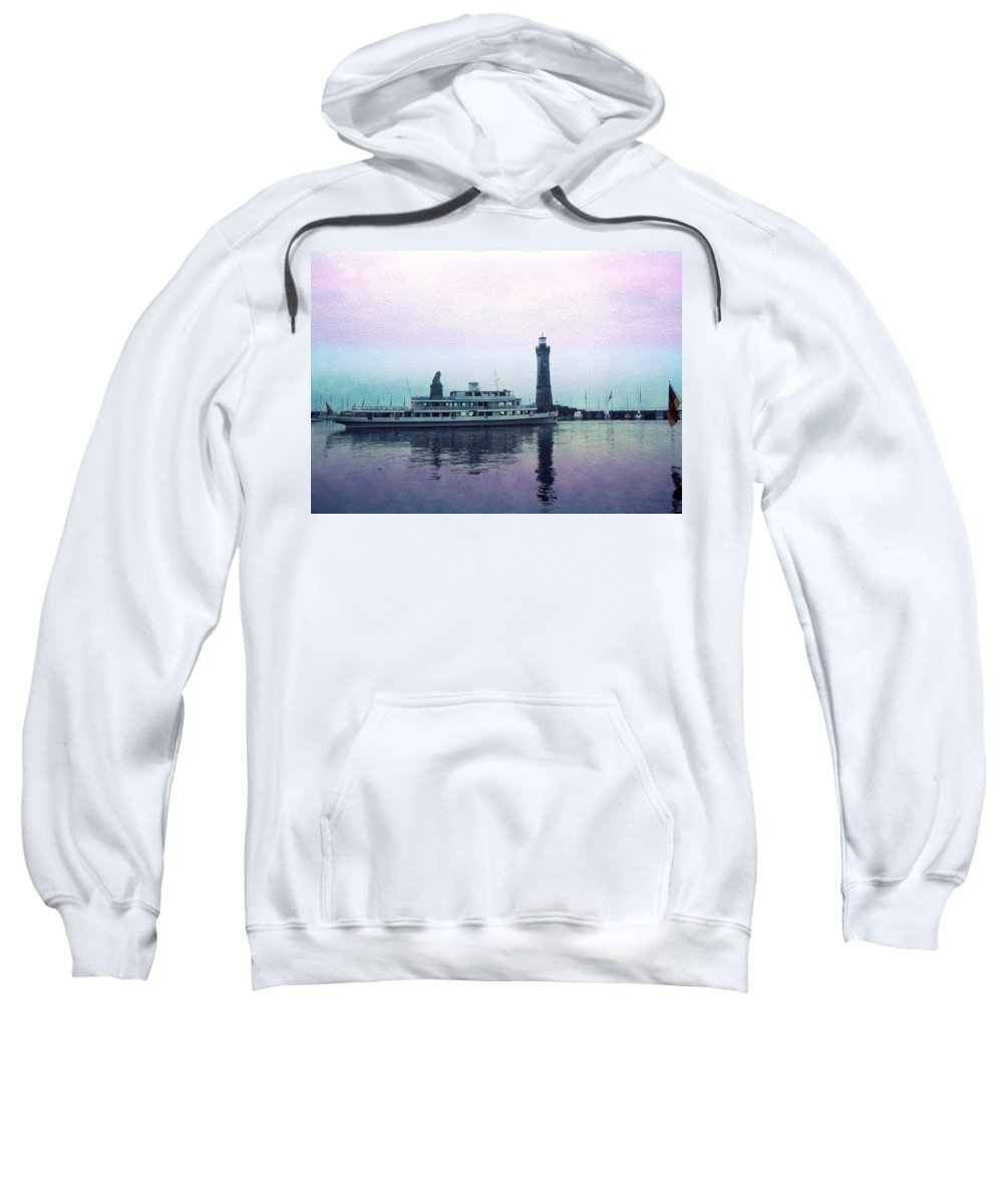 Digital Art Sweatshirt featuring the digital art Calm On The Water by Cathy Anderson