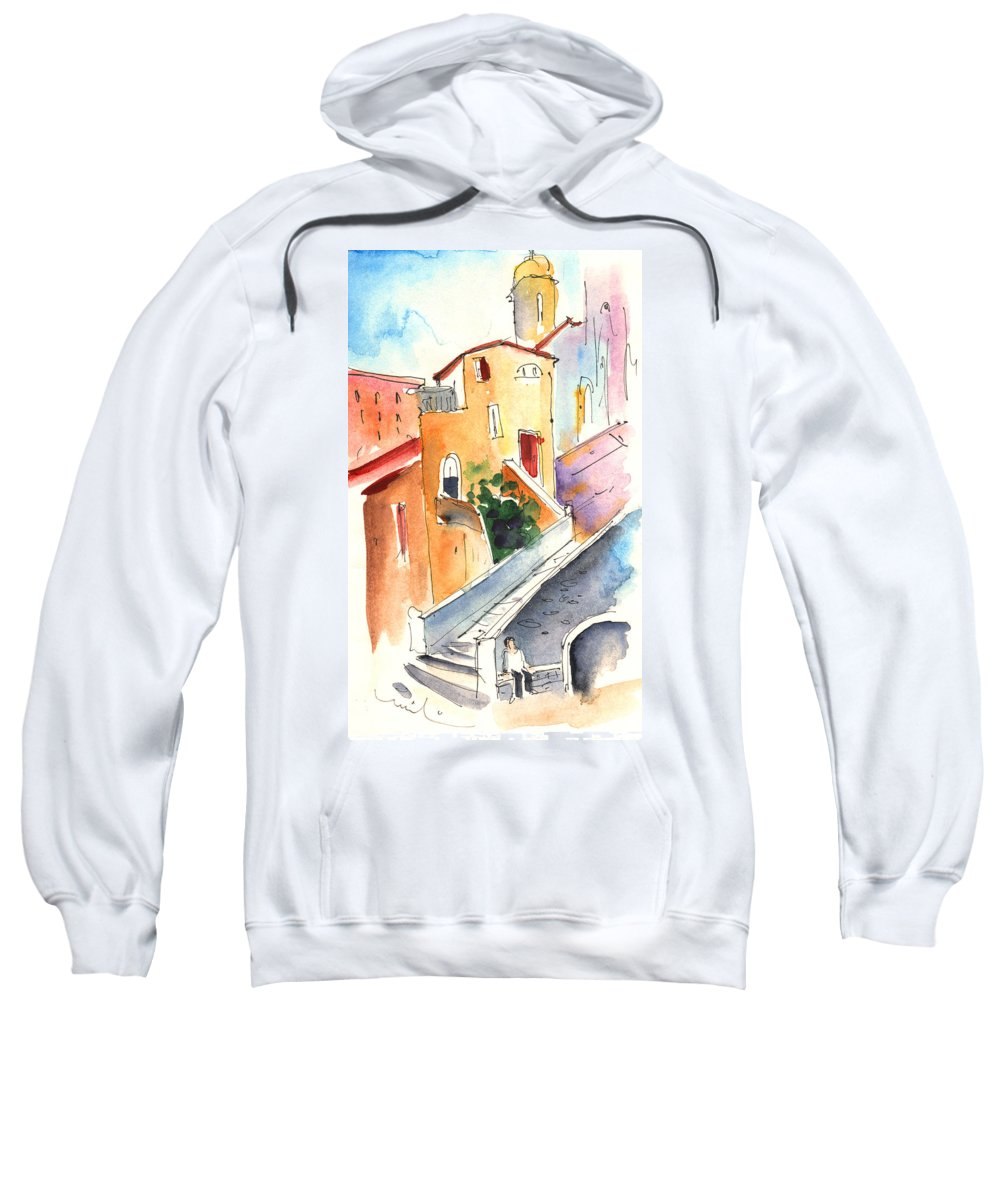 Italy Sweatshirt featuring the painting Camogli In Italy 01 by Miki De Goodaboom