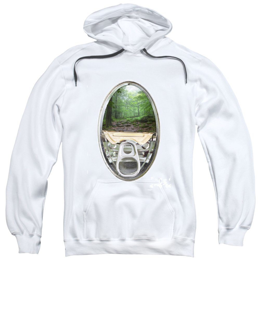 Forest Sweatshirt featuring the photograph Canned Forest by Michal Boubin