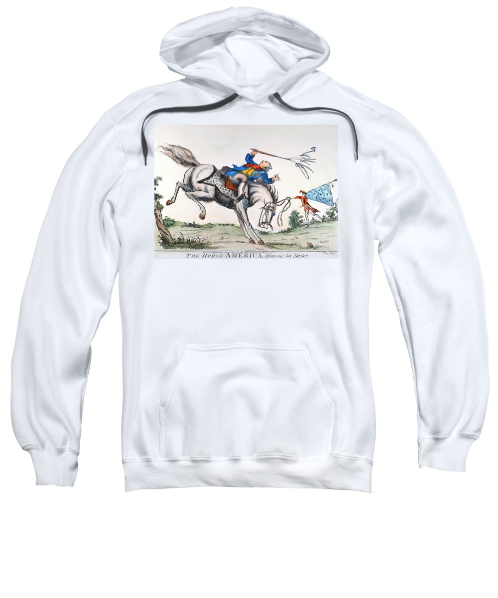 1779 Sweatshirt featuring the photograph Cartoon: Outcome, 1779 by Granger
