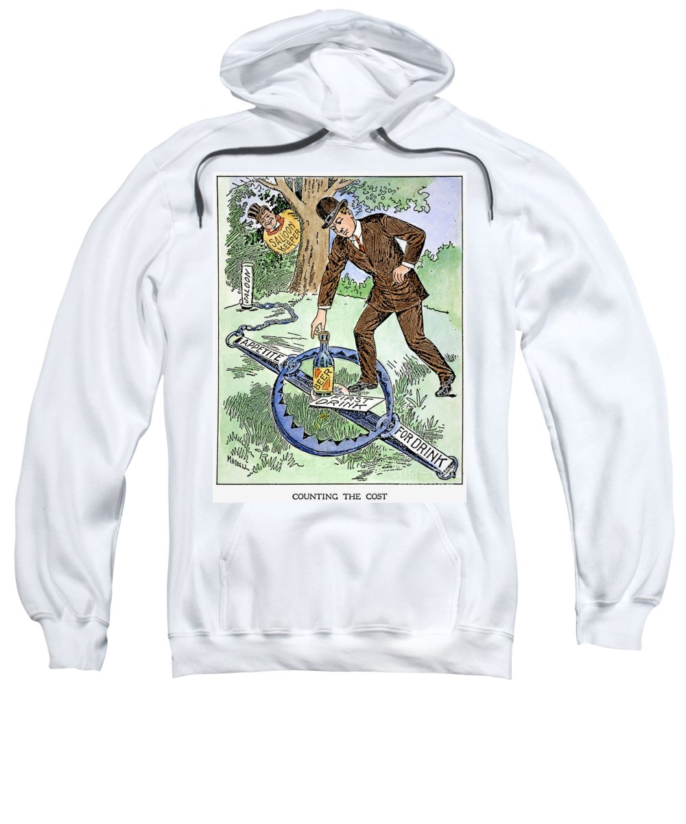 1915 Sweatshirt featuring the photograph Cartoon: Temperance, C1915 by Granger