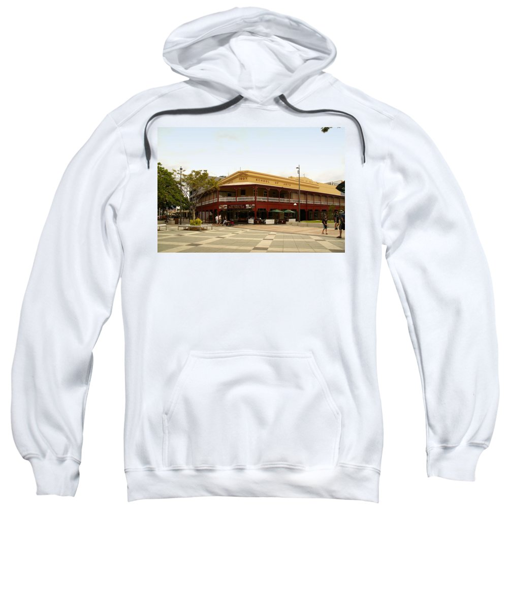 Australia Queensland Qld Sweatshirt featuring the digital art Central Cairns Historical Buildings by Carol Ailles