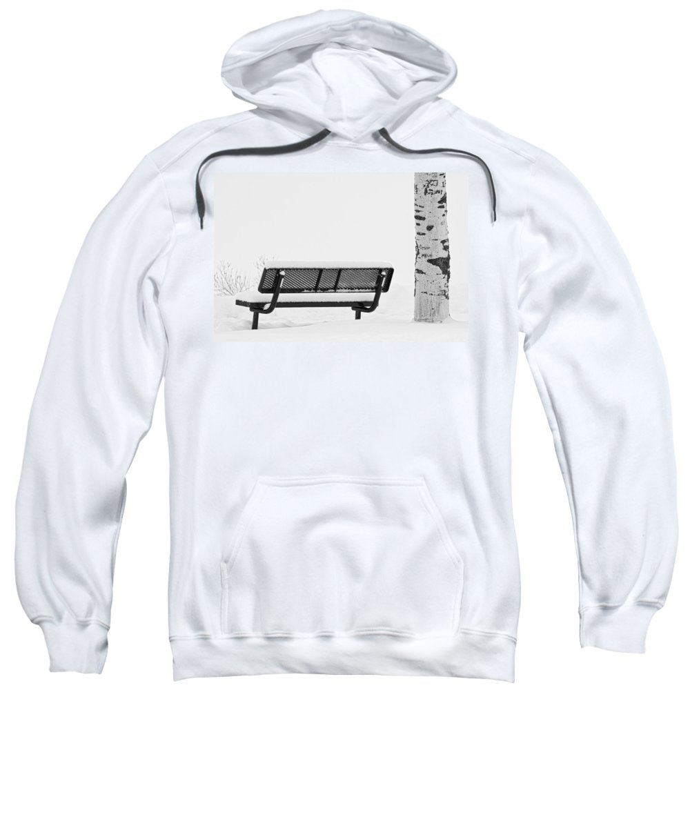 Snow Sweatshirt featuring the photograph Cesar Melai Love In The Snow Bw by James BO Insogna