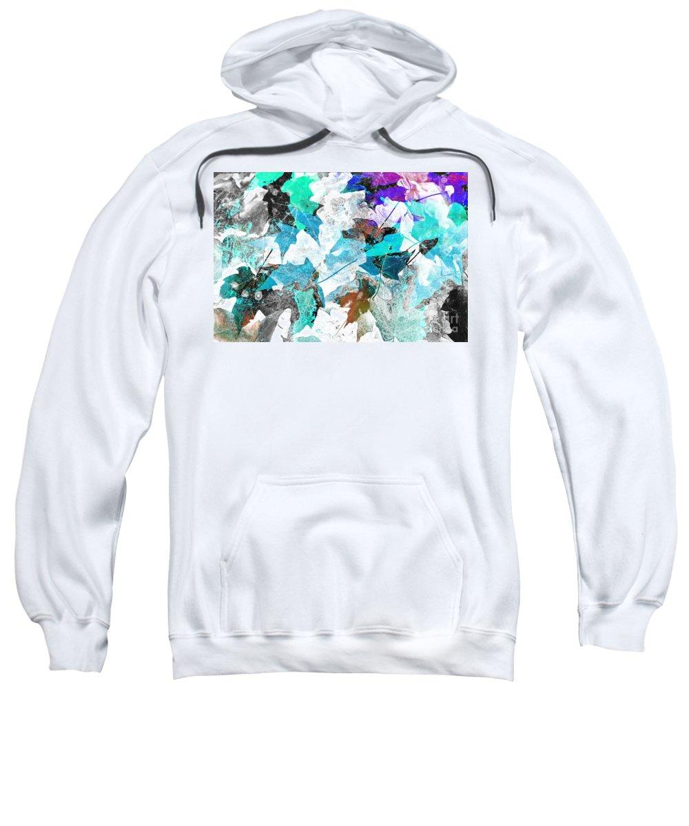 Digital Art Abstract Sweatshirt featuring the digital art Change Is On The Way by Yael VanGruber