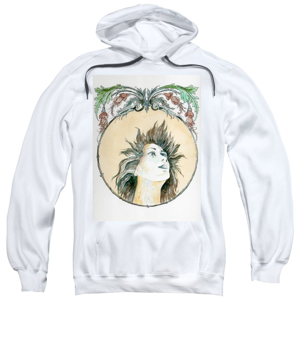 Watercolor Sweatshirt featuring the painting Chanson D'amour by Brenda Owen
