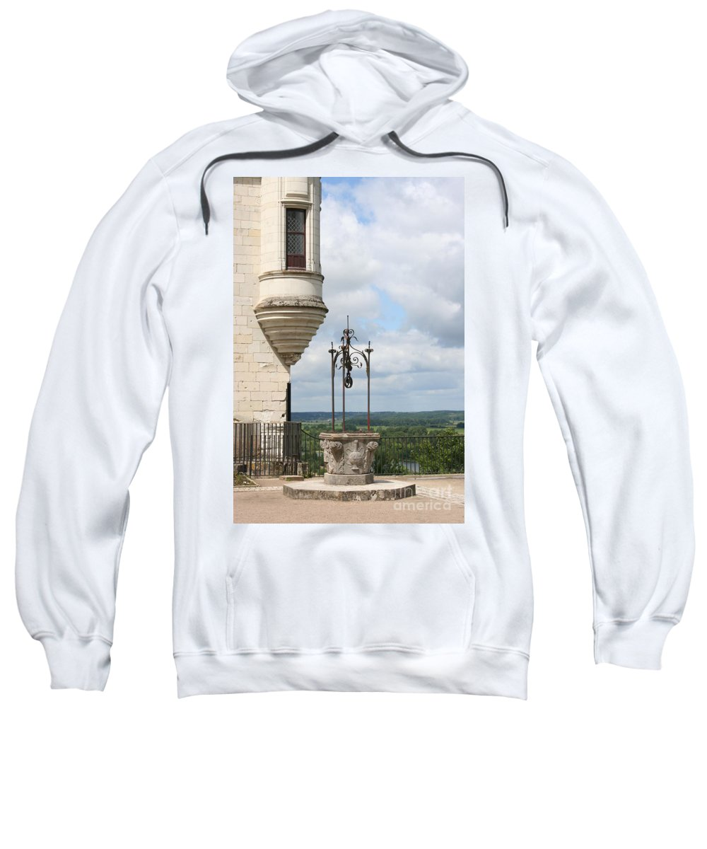 Baywindow Sweatshirt featuring the photograph Chateau Baywindow And Well by Christiane Schulze Art And Photography