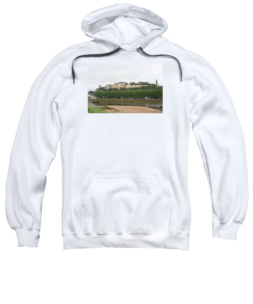 Castle Sweatshirt featuring the photograph Chateau De Chinon - France by Christiane Schulze Art And Photography
