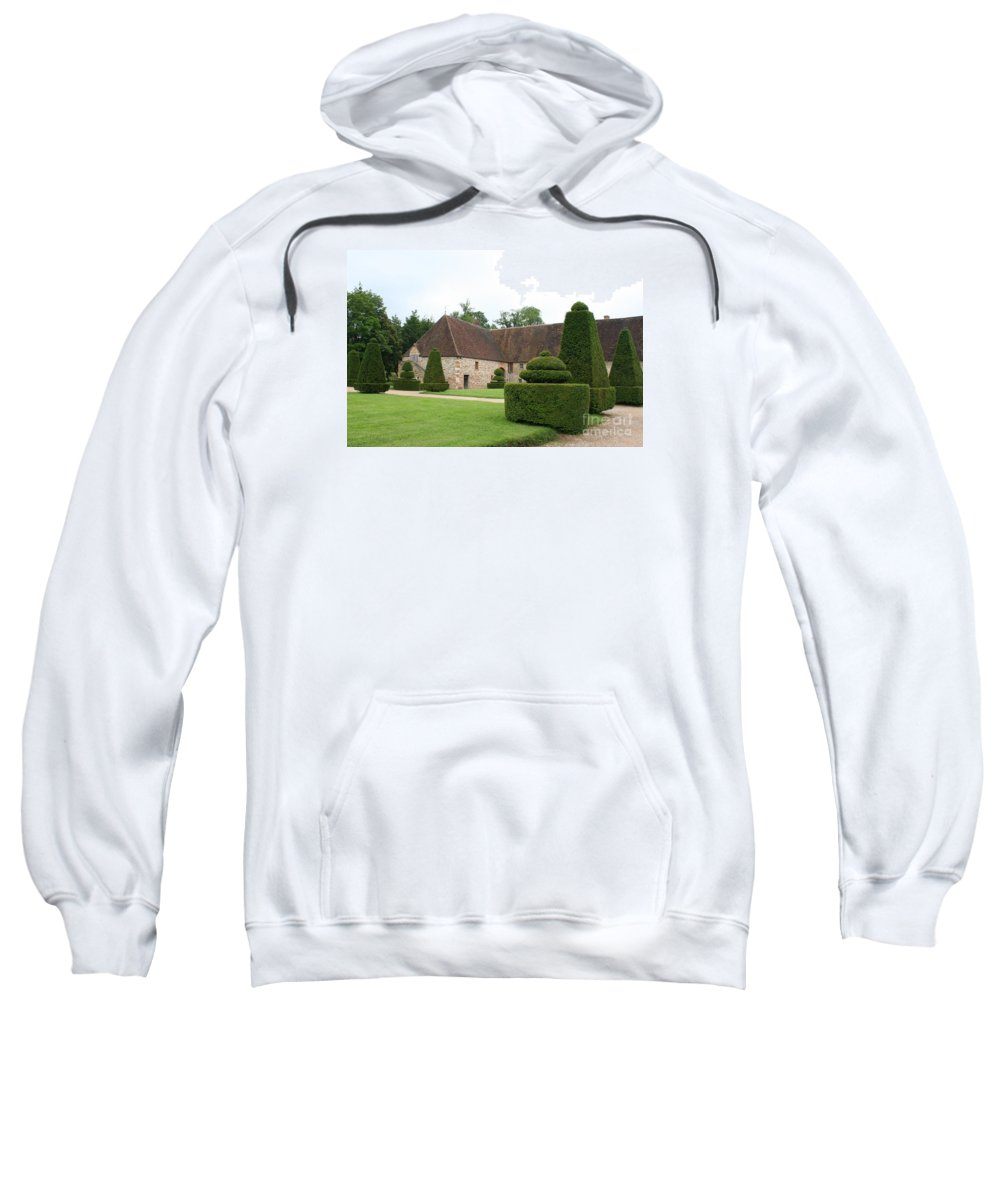 Stable Sweatshirt featuring the photograph Chateau De Cormatin Stable by Christiane Schulze Art And Photography