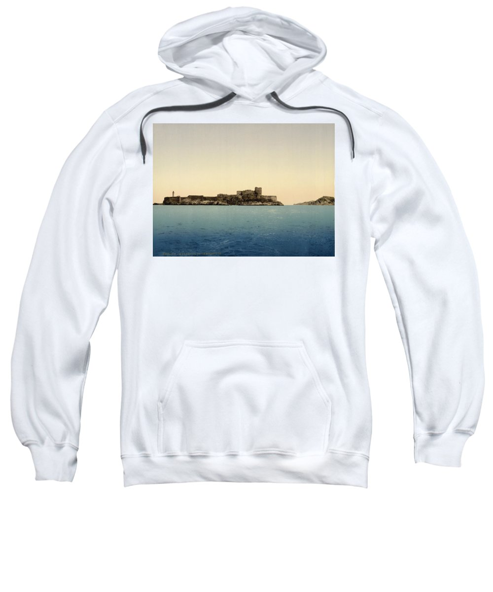 Chateau Sweatshirt featuring the digital art Chateau D'if by Georgia Fowler