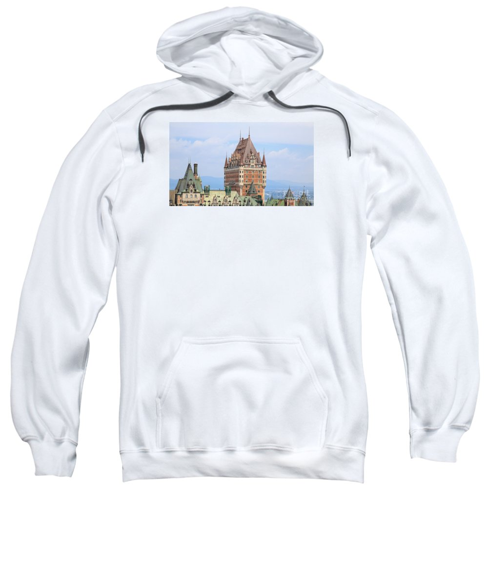 2013 Sweatshirt featuring the photograph Chateau Frontenac Quebec City Canada by Edward Fielding