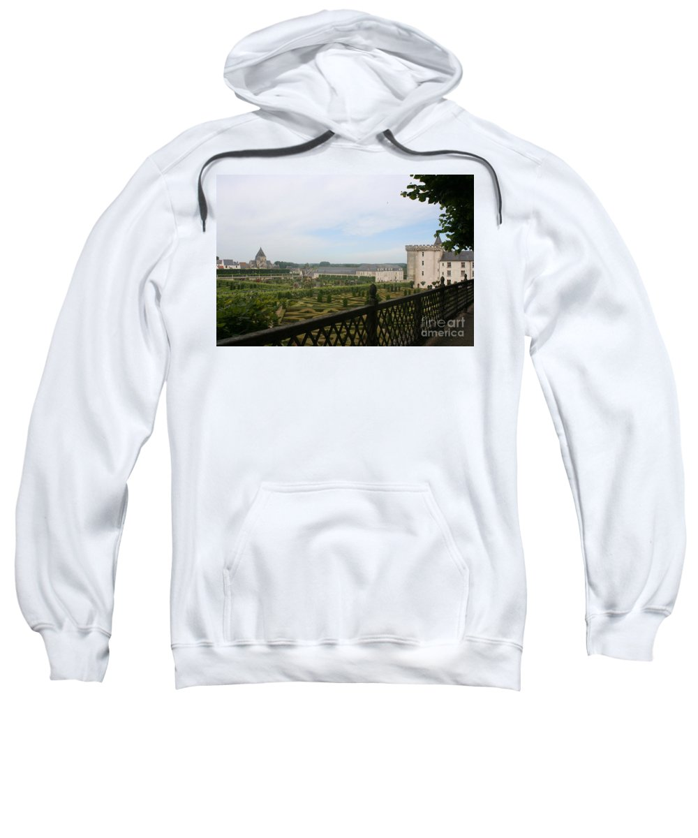 Garden Sweatshirt featuring the photograph Chateau Vilandry And Garden View by Christiane Schulze Art And Photography