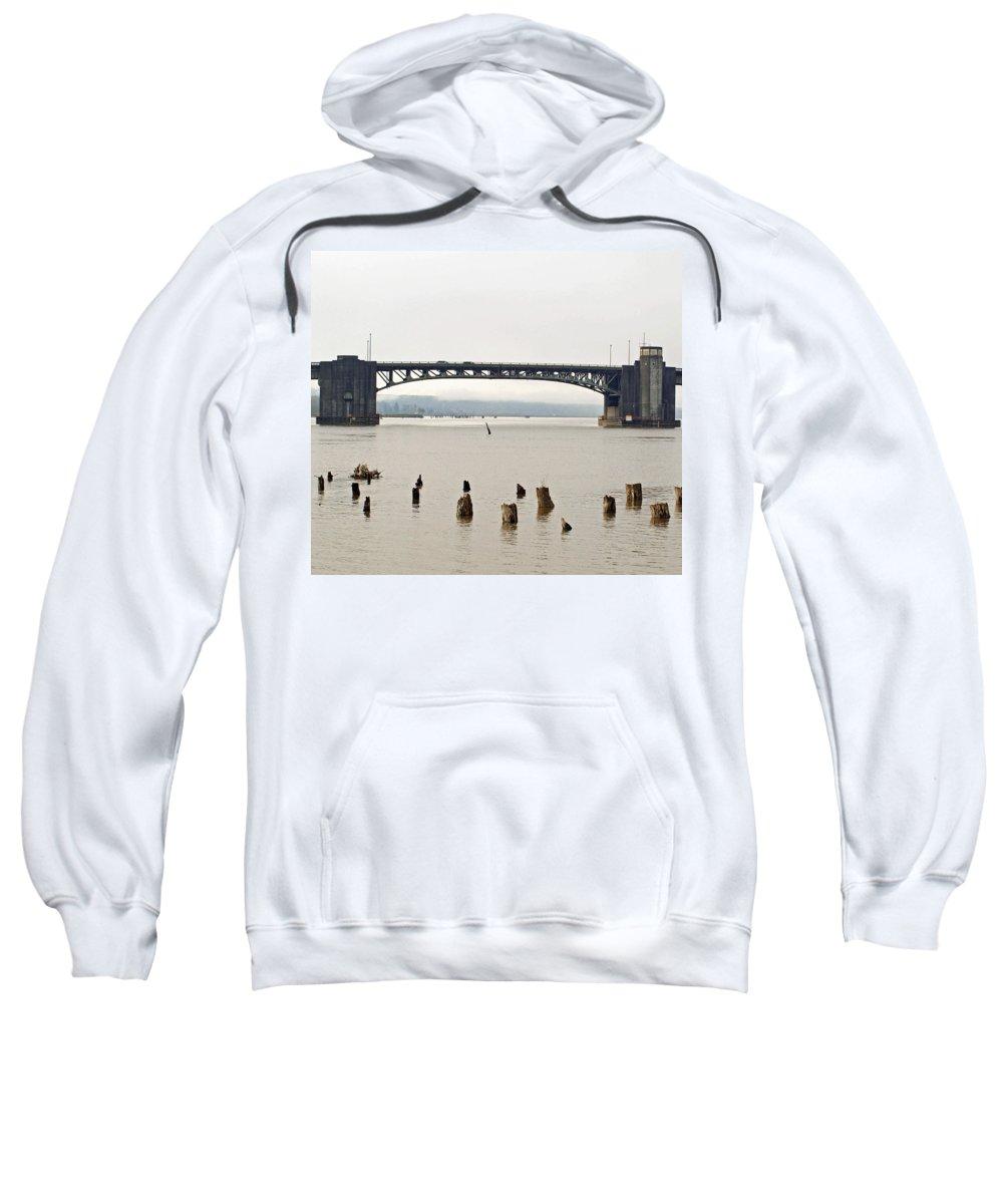 Chehalis Sweatshirt featuring the photograph Chehalis River Aberdeen Wa by Howard Tenke
