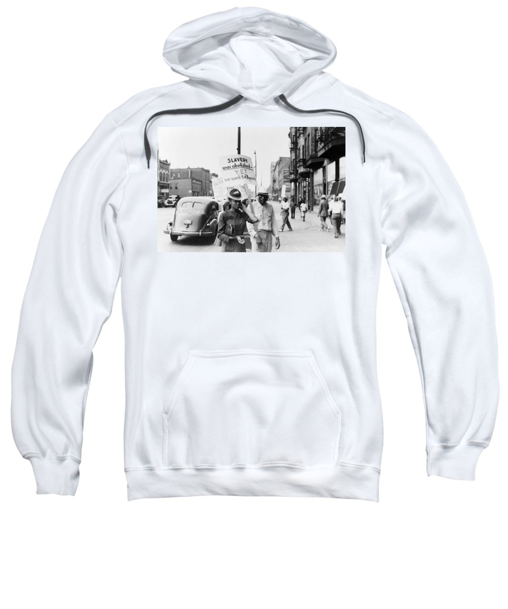 1941 Sweatshirt featuring the photograph Chicago Protest, 1941 by Granger