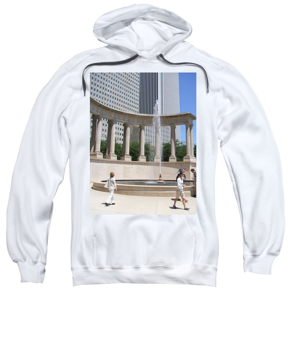 Chicago Sweatshirt featuring the photograph Chicago Tourism by Minding My Visions by Adri and Ray