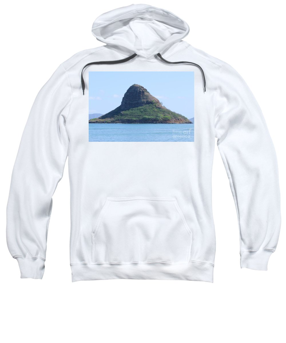 Island Sweatshirt featuring the photograph Chinaman's Cap by Mary Deal