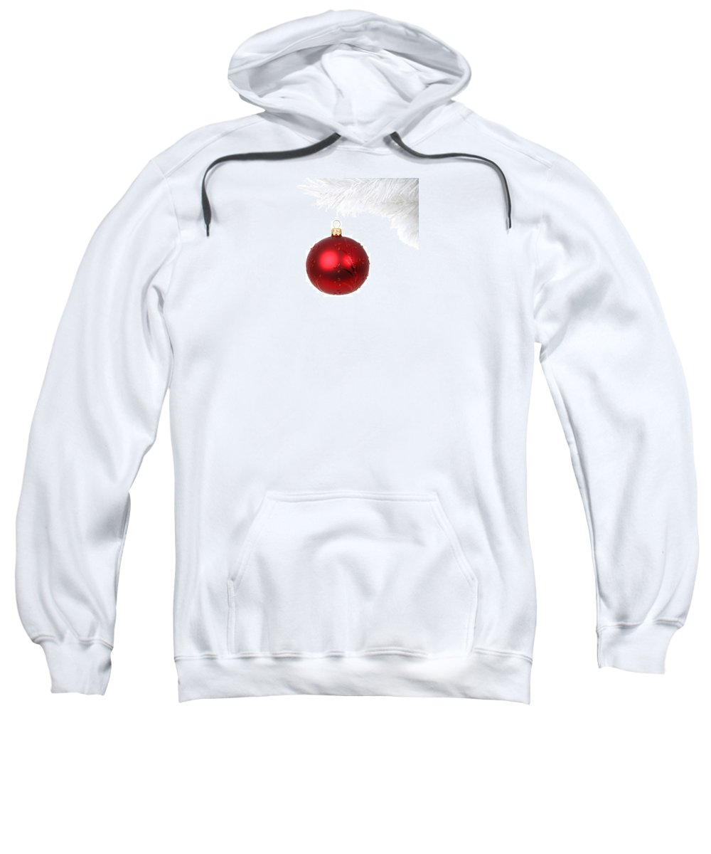 Snow Sweatshirt featuring the photograph Christmas Bauble by FL collection