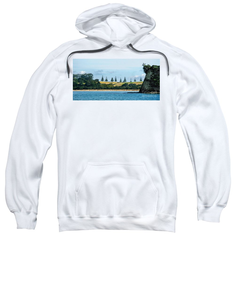 Landscape Sweatshirt featuring the photograph Christmas In A Row.nz by Jennie Breeze