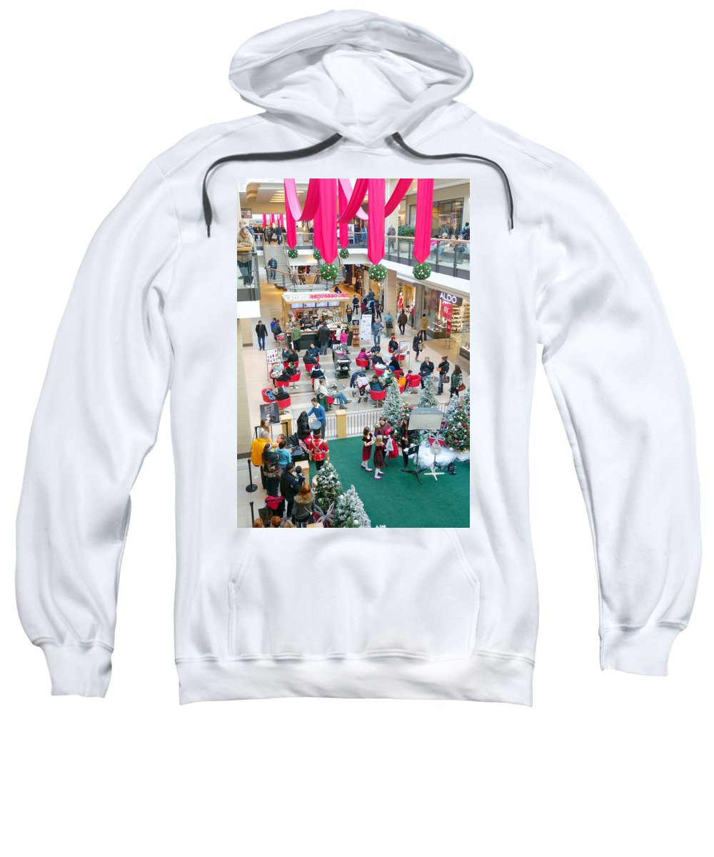 Shopping Sweatshirt featuring the photograph Christmas Shopping by Valentino Visentini