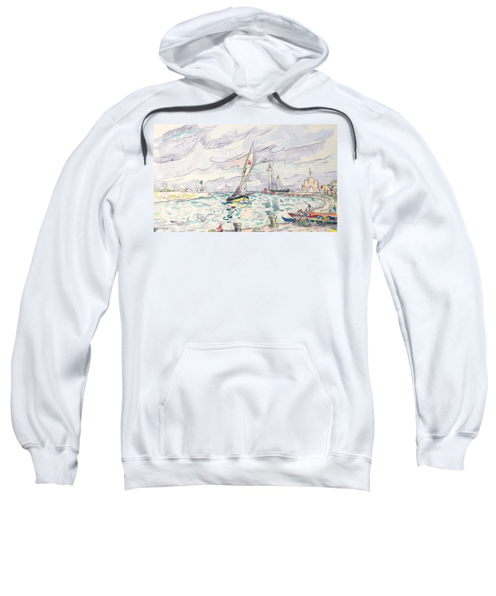 Ciboure Sweatshirt featuring the painting Ciboure by Paul Signac