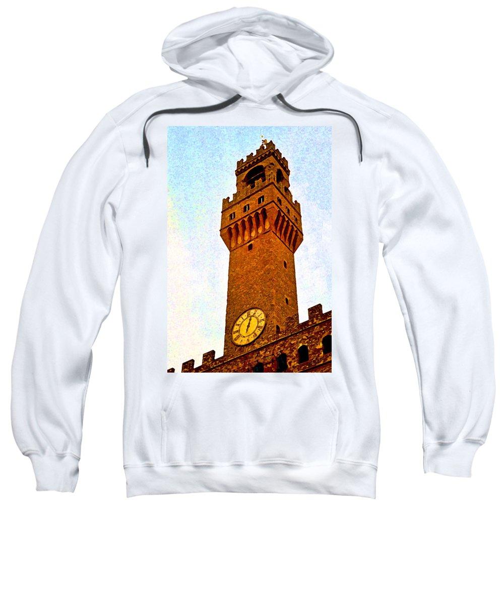 Ciena Sweatshirt featuring the digital art Ciena Tower by John Vincent Palozzi