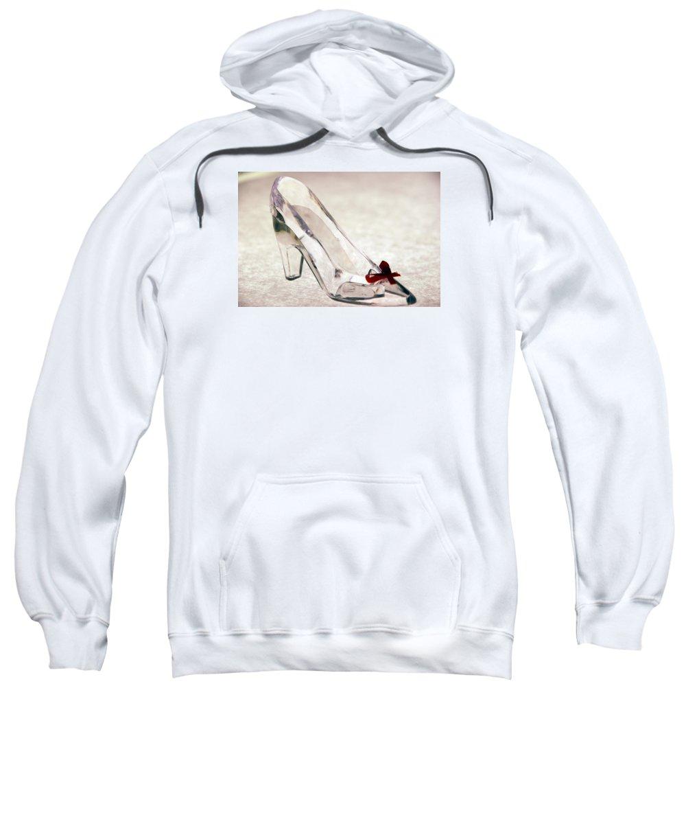Glass Sweatshirt featuring the photograph Cinderella's Slipper by Beverly Stapleton