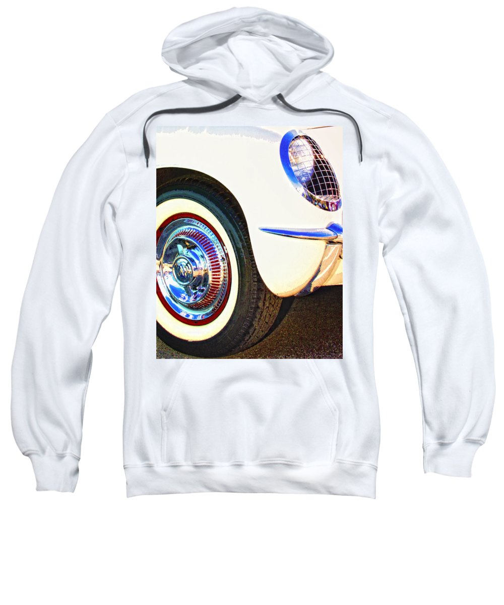 Car Auction Sweatshirt featuring the photograph Classic Corvette Palm Springs by William Dey
