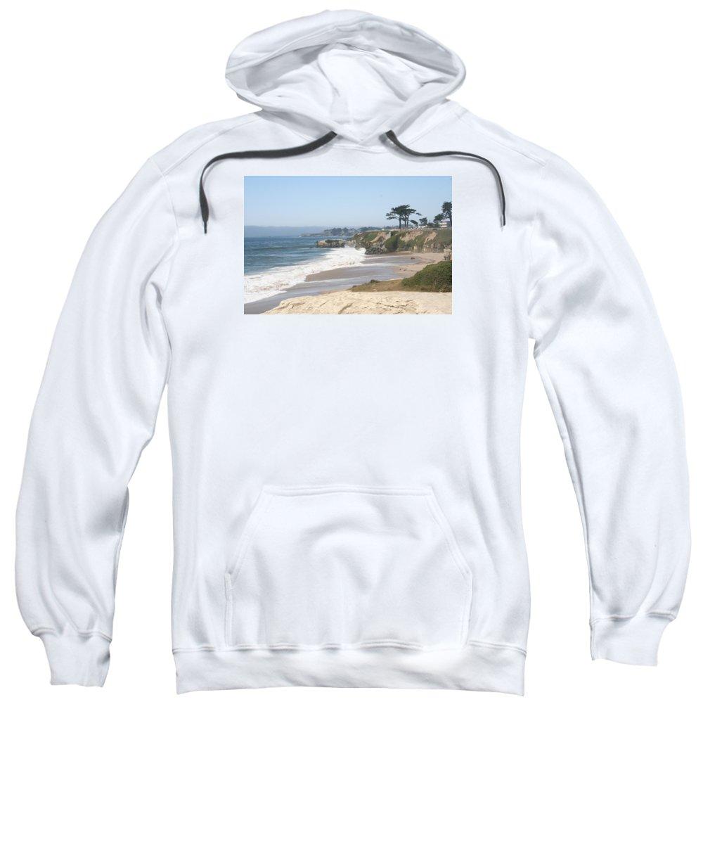 Coast Sweatshirt featuring the photograph Santa Cruz Cliffline by Christiane Schulze Art And Photography