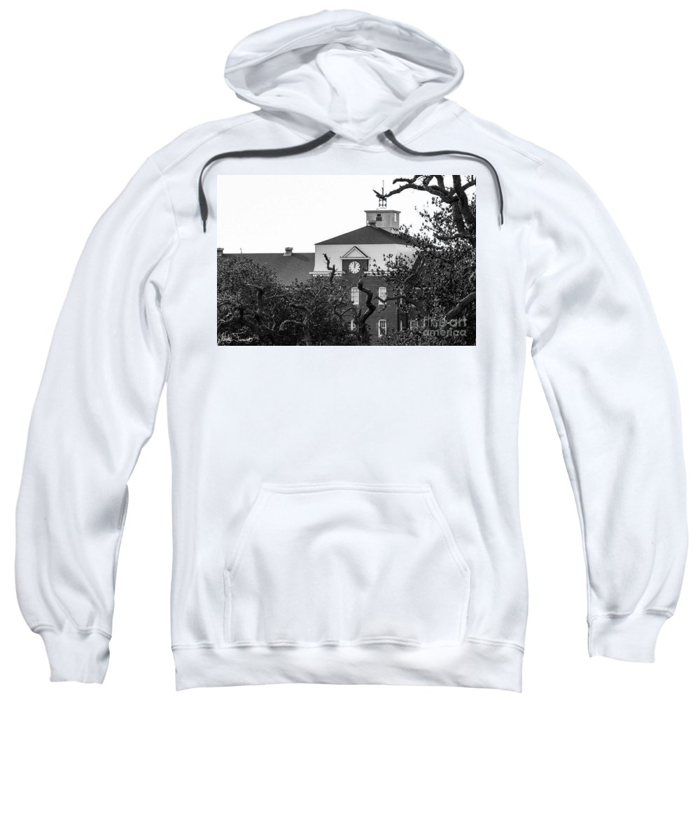 Clock Sweatshirt featuring the photograph Clock Tower by Wesley Farnsworth