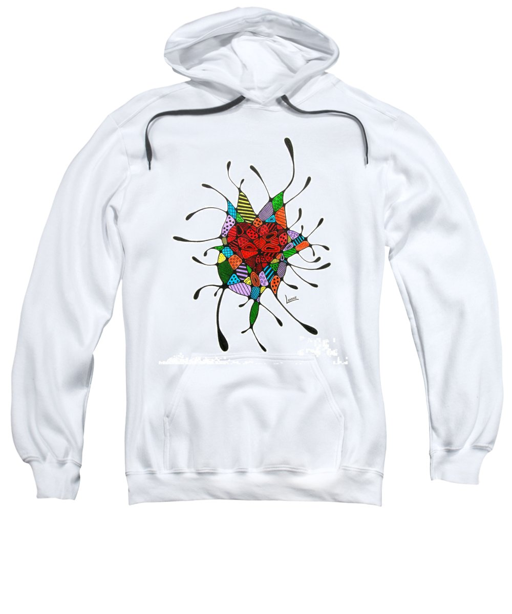 Heart Sweatshirt featuring the drawing Cloud 9 by Leanne Karlstrom