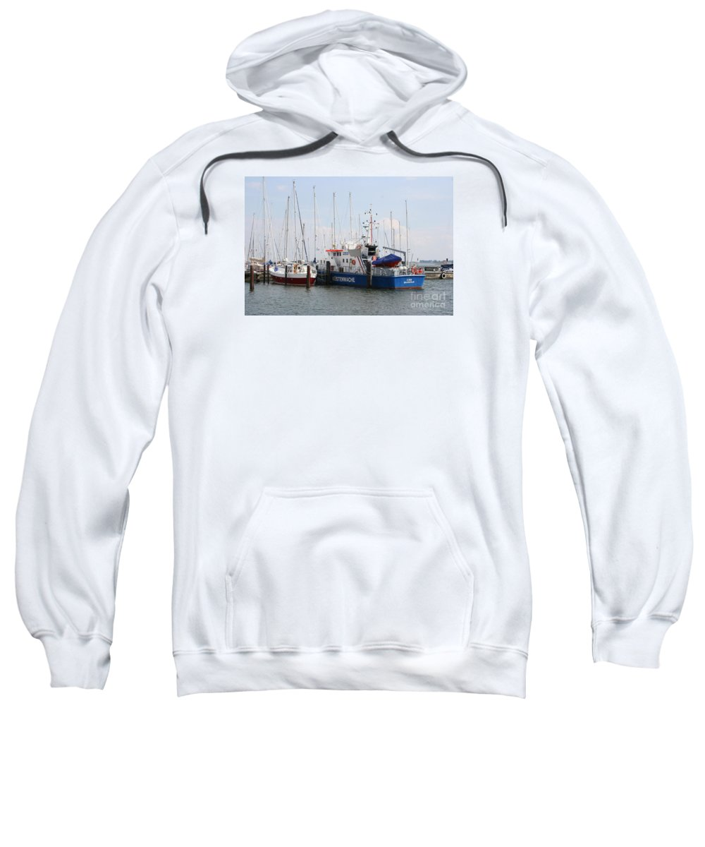 Harbor Sweatshirt featuring the photograph Coast Guard Maasholm Harbor by Christiane Schulze Art And Photography