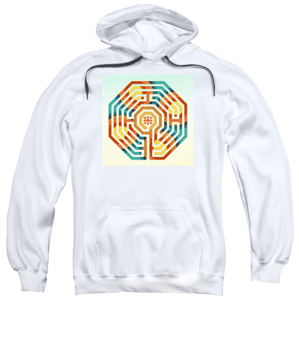 Labyrinth Art Sweatshirt featuring the digital art Cologne - Summer by Fine Art Labyrinths