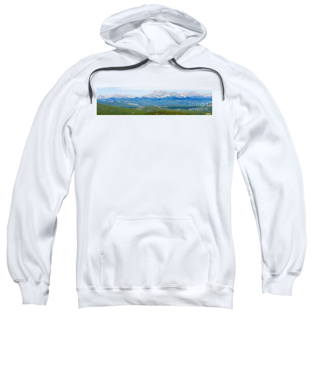 Rocky Mountains Sweatshirt featuring the photograph Colorado Continental Divide Panorama Hdr Crop by James BO Insogna