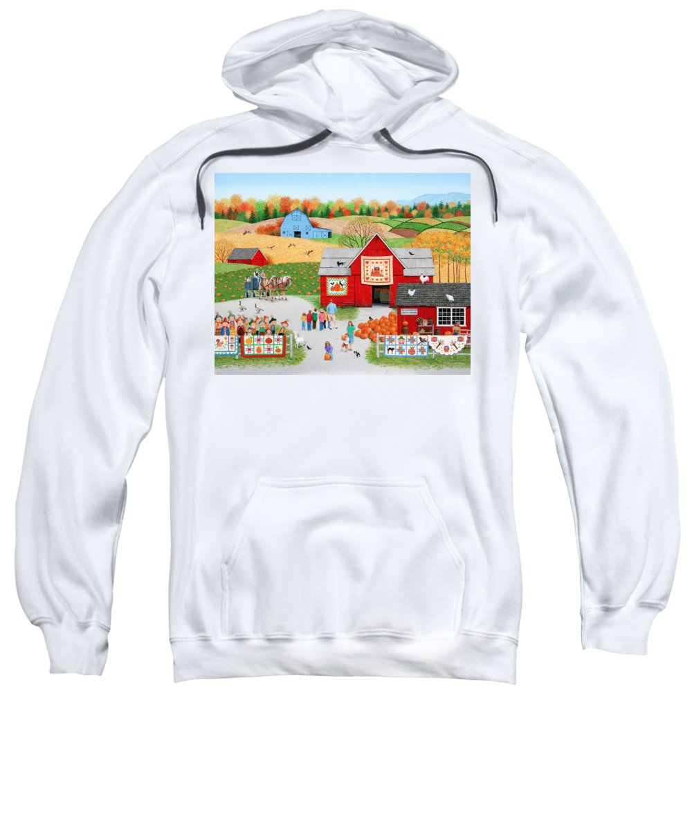 Autumn Sweatshirt featuring the painting Colors Of Autumn by Wilfrido Limvalencia