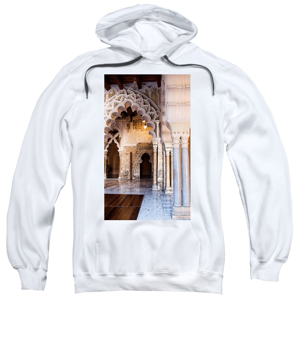 Column Sweatshirt featuring the photograph Columns And Arches No3 by Weston Westmoreland