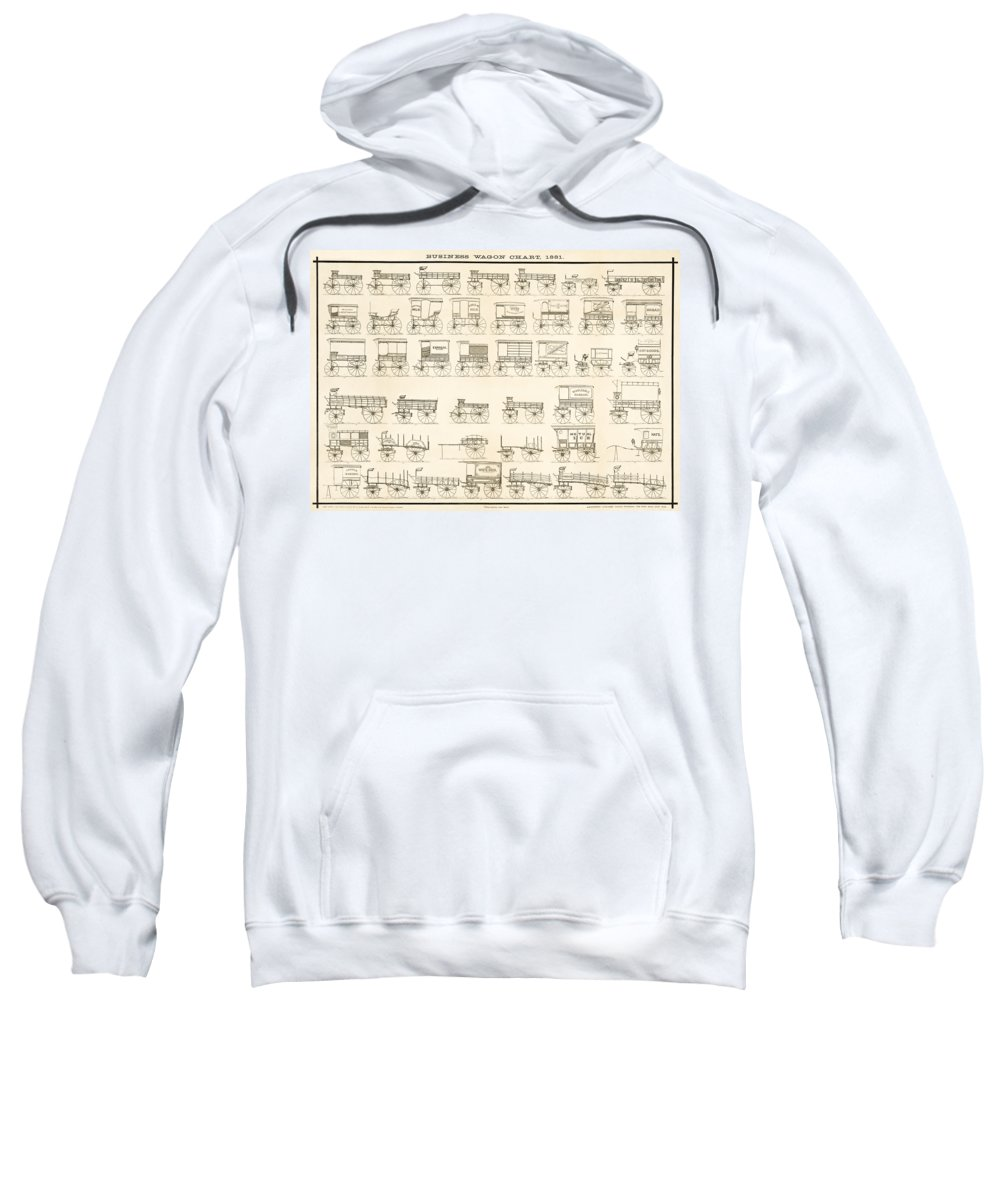 Wagons Sweatshirt featuring the photograph Commercial Wagons 1881 by Daniel Hagerman