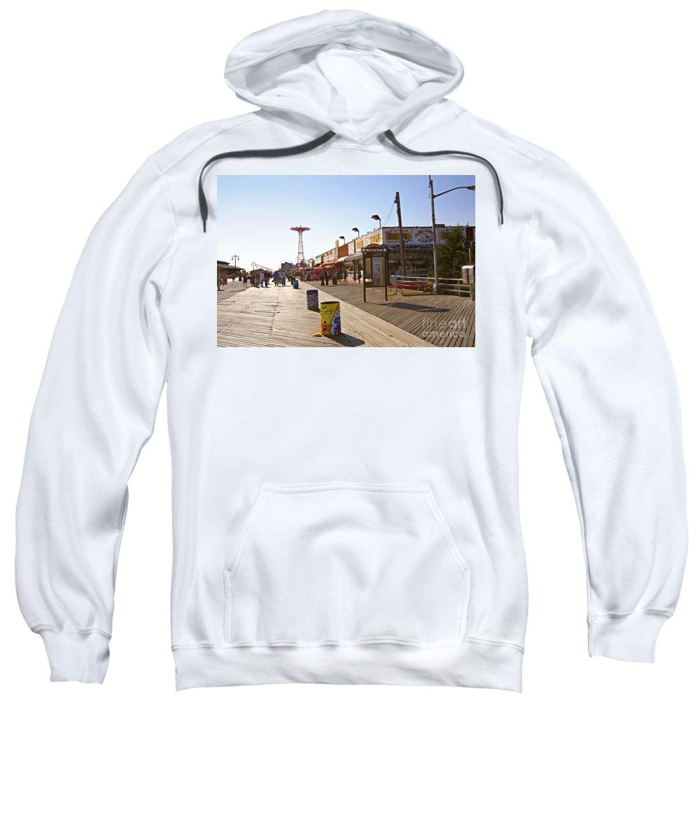 Coney Island Sweatshirt featuring the photograph Coney Island Memories 8 by Madeline Ellis