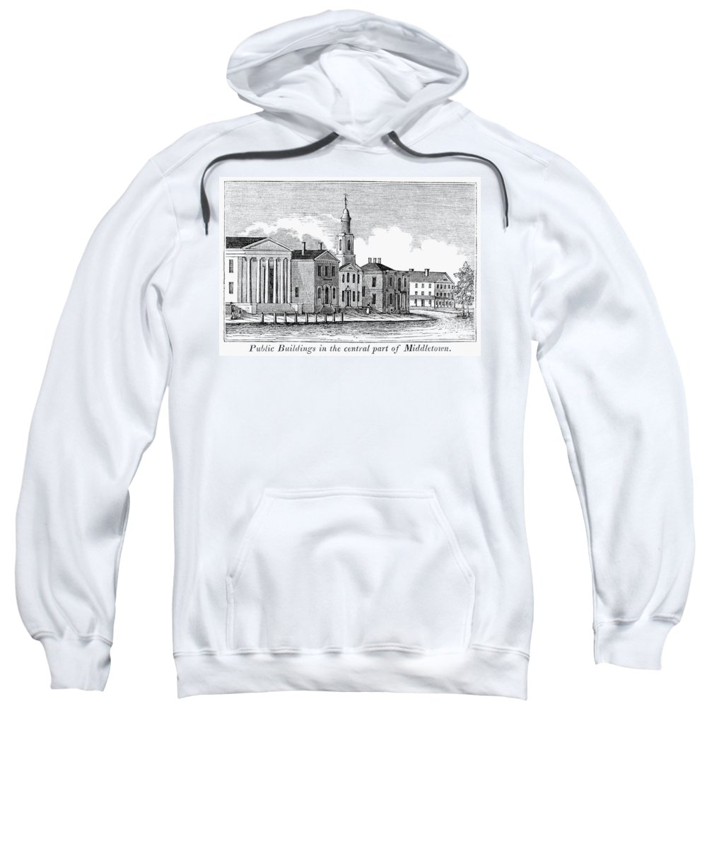 1836 Sweatshirt featuring the painting Connecticut Middletown by Granger