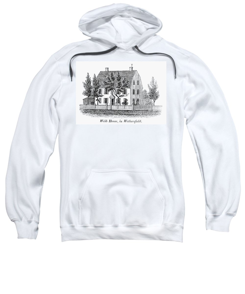 1781 Sweatshirt featuring the painting Connecticut Webb House by Granger