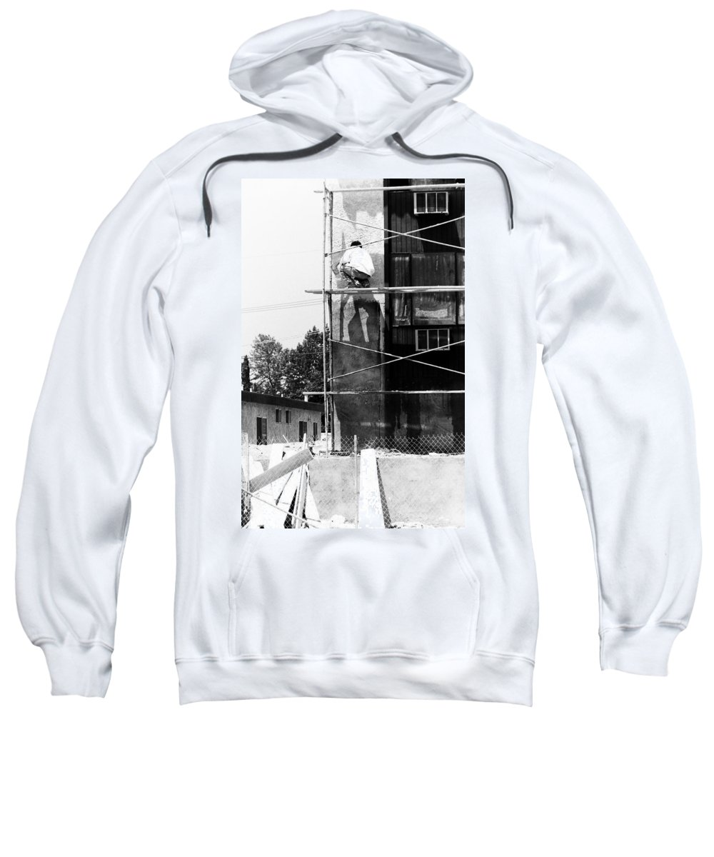 People Sweatshirt featuring the photograph Construction Workers by Karl Rose