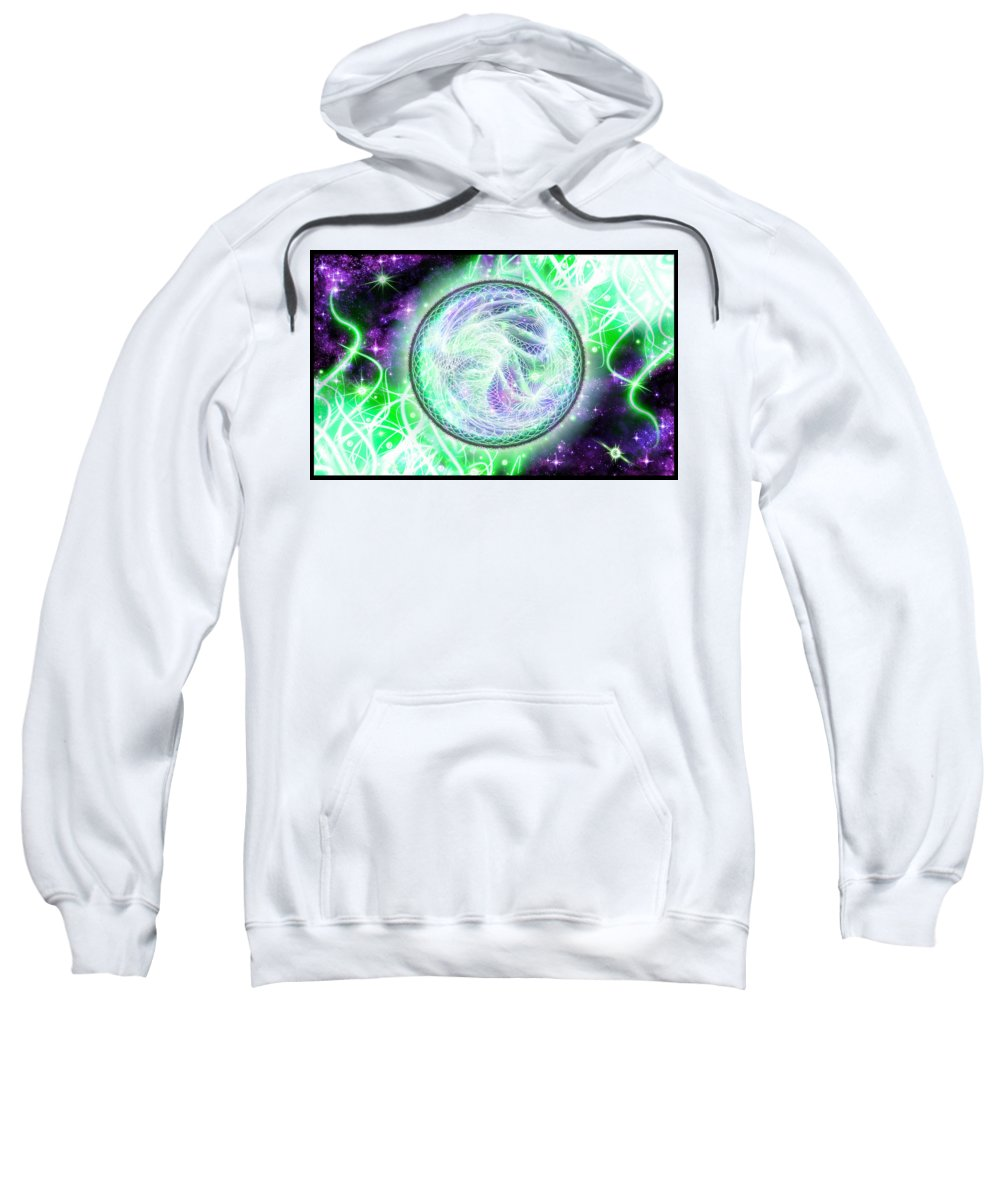 Corporate Sweatshirt featuring the digital art Cosmic Lifestream by Shawn Dall
