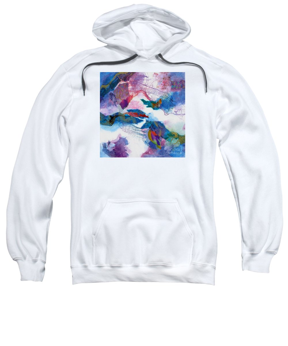 Abstract Sweatshirt featuring the painting Cosmopolitan 1 by Deborah Ronglien