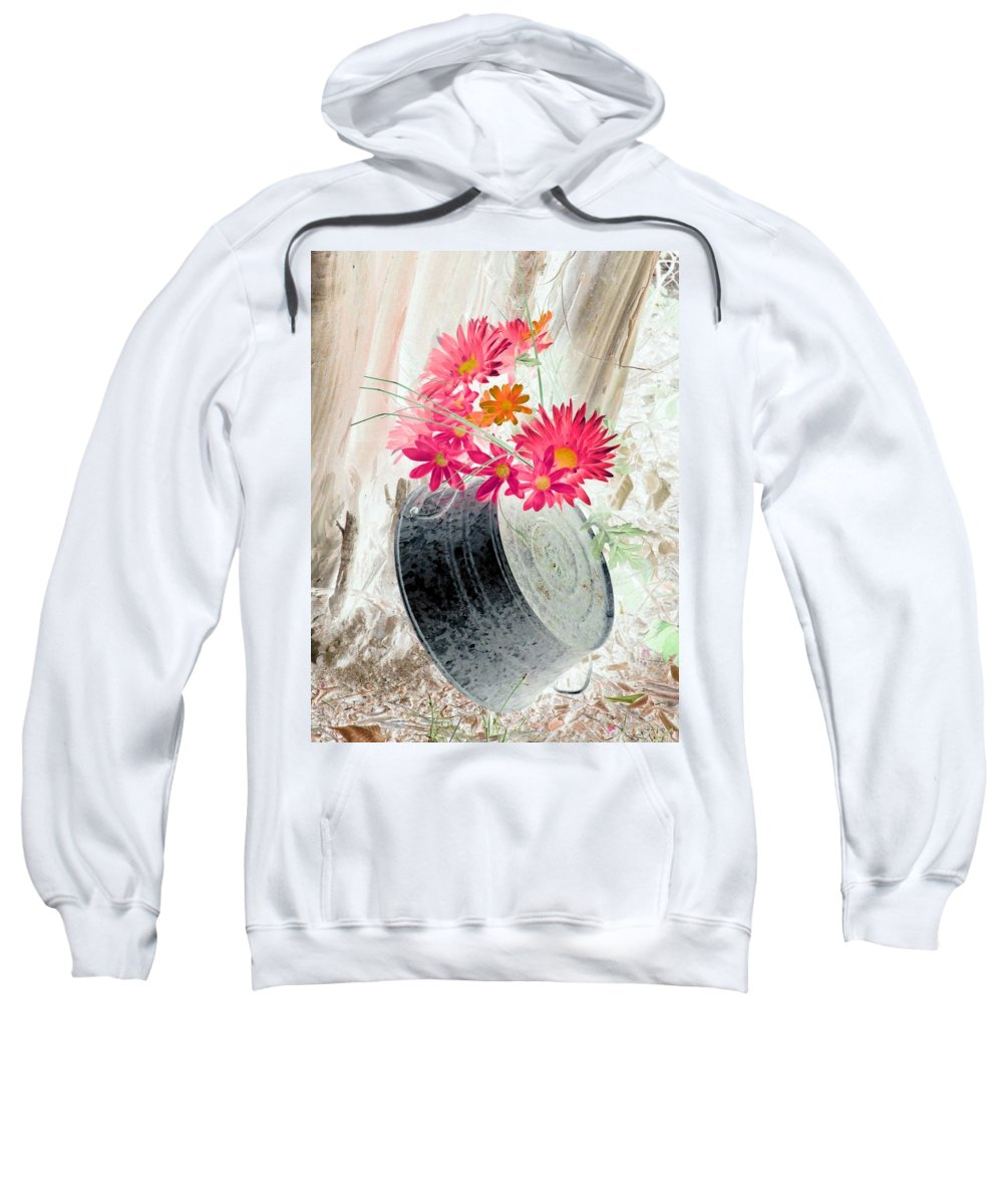 Flower Sweatshirt featuring the photograph Country Summer - Photopower 1499 by Pamela Critchlow