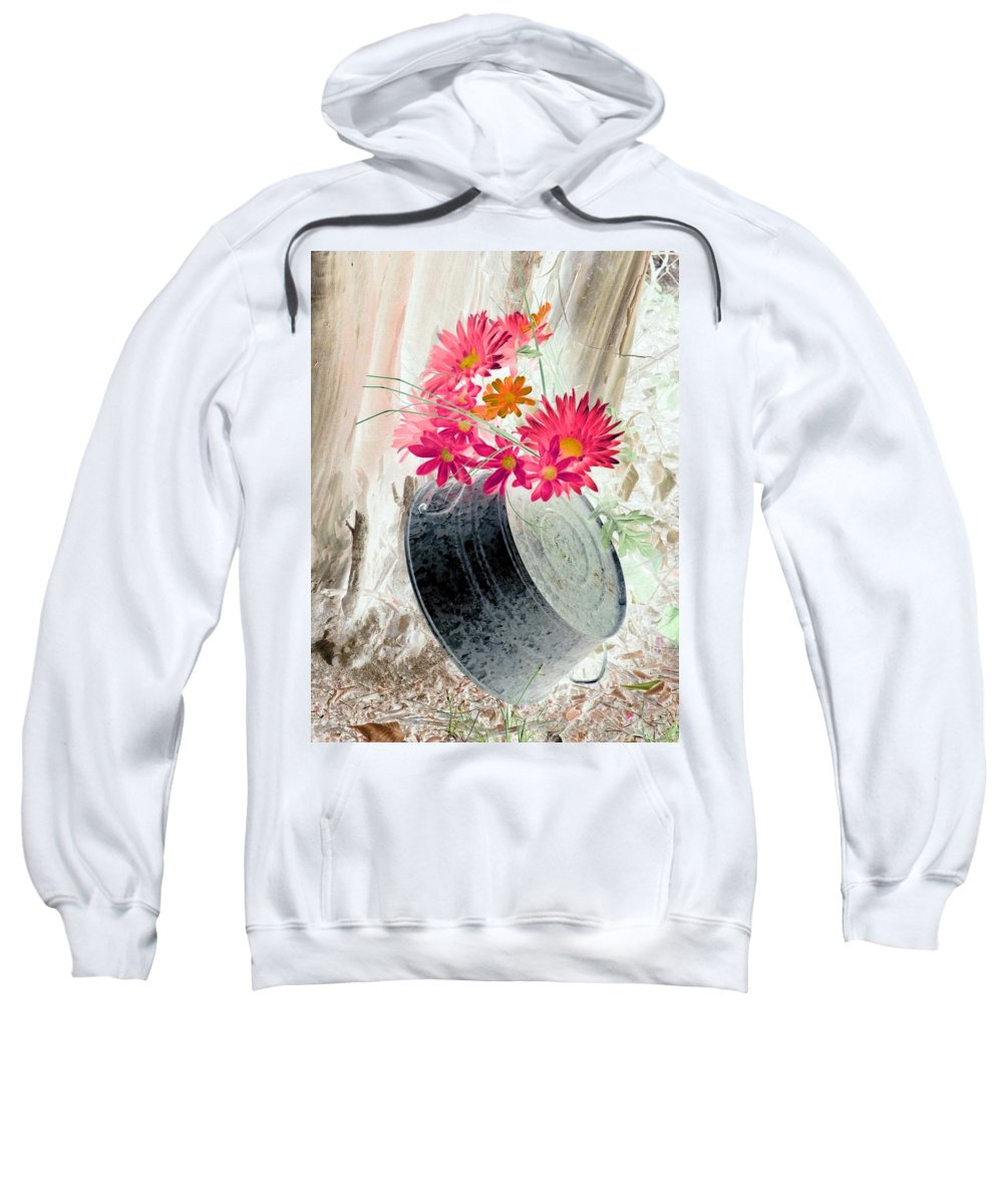 Flower Sweatshirt featuring the photograph Country Summer - Photopower 1500 by Pamela Critchlow