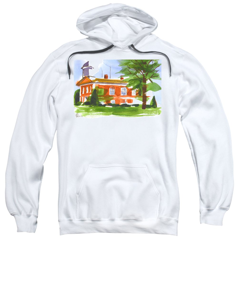 Courthouse On A Summers Evening Sweatshirt featuring the painting Courthouse On A Summers Evening by Kip DeVore