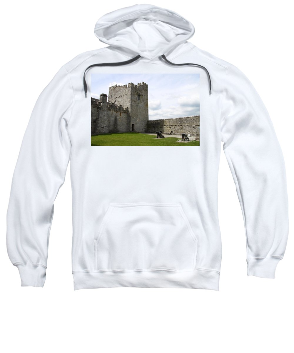 Exterior Cahir Castle Sweatshirt featuring the photograph Courtyard Cahir Castle by Christiane Schulze Art And Photography