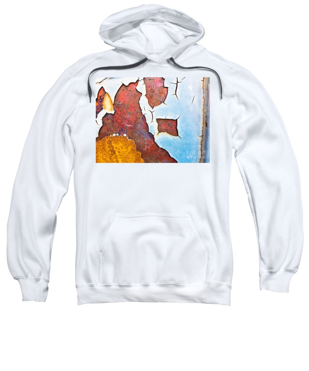 Abstract Sweatshirt featuring the photograph Cracked Gate Detail by Silvia Ganora