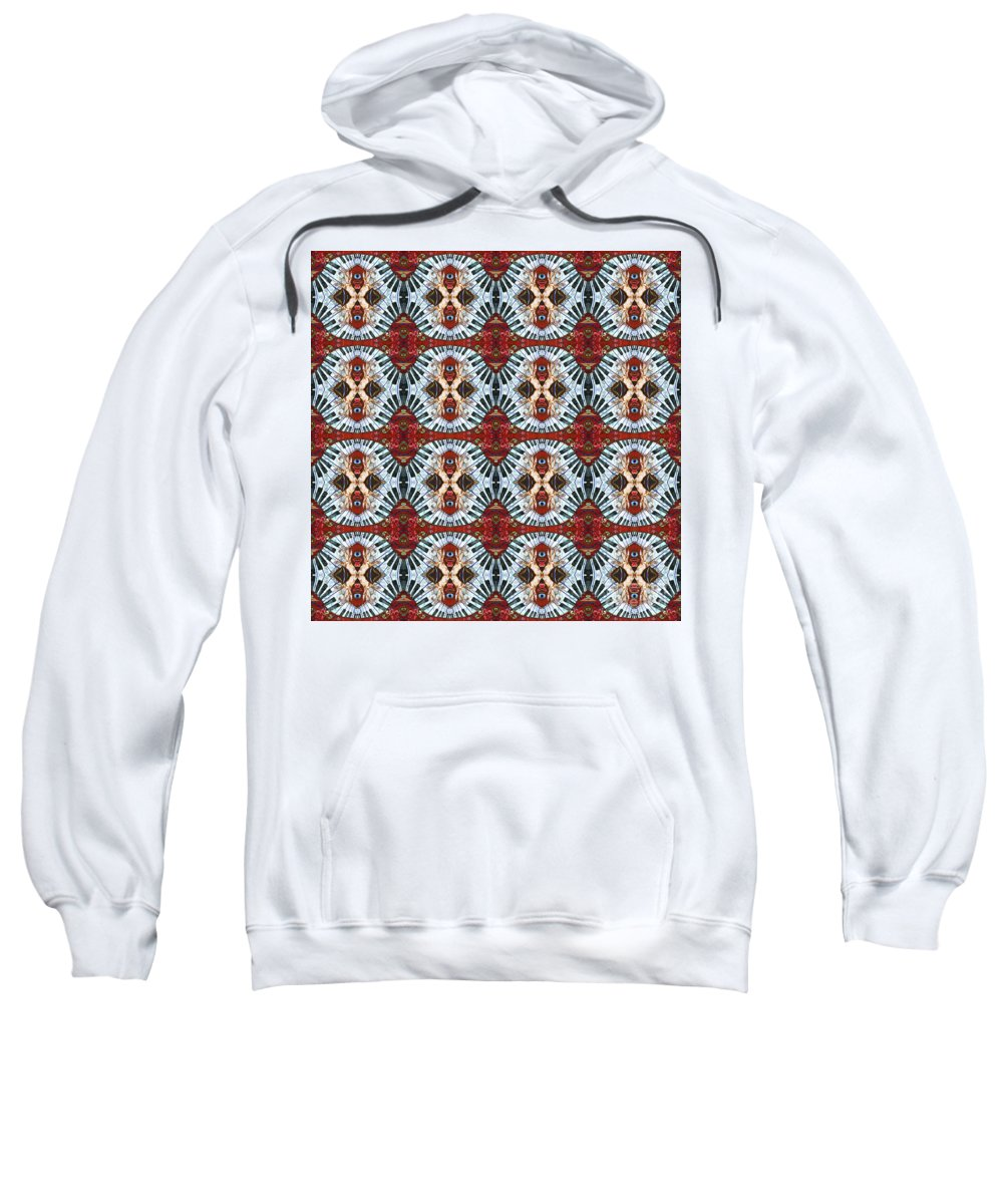 Pianos Sweatshirt featuring the painting Crazy Fingers Piano Repeat by Sue Duda