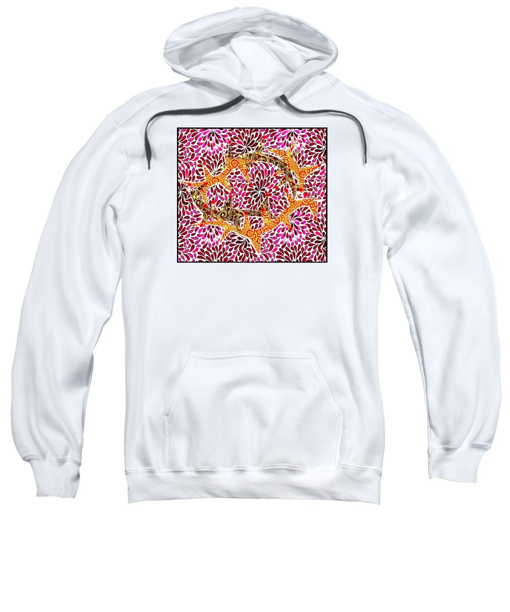 Collage Sweatshirt featuring the mixed media Crown of Thorns by Jim Harris