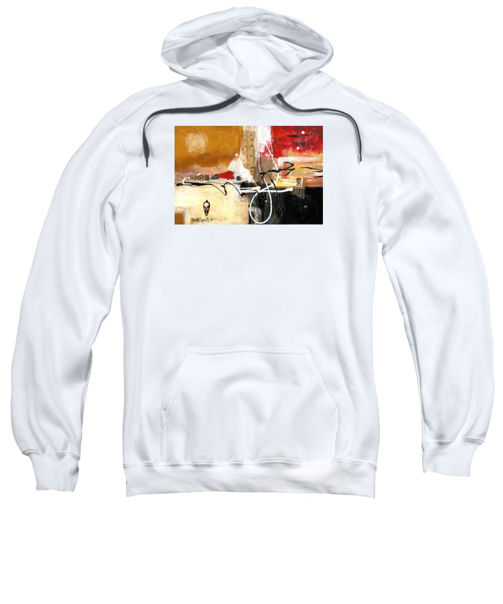 Everett Spruill Sweatshirt featuring the painting Cultural Abstractions - Hattie Mcdaniels by Everett Spruill