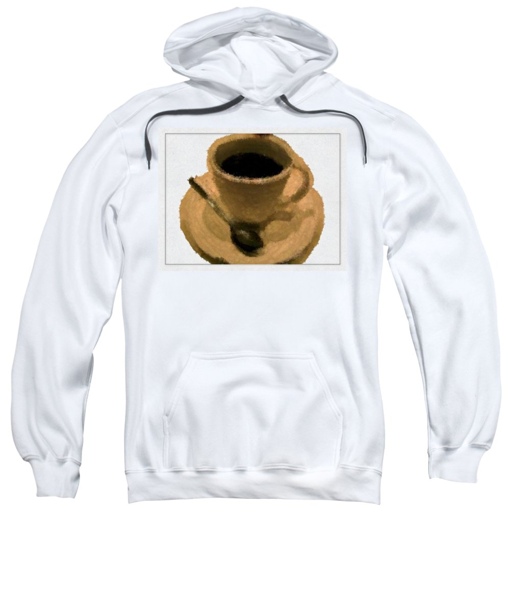 Coffee Sweatshirt featuring the painting Cup Of Coffee Pissaro Style by Bruce Nutting